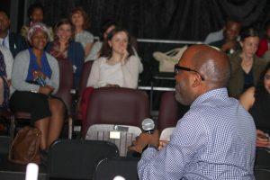 Credit: UNICEF/ Antony Kariuki David Anthony addressing the public and the media during the launch